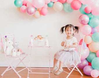Balloon Garland Kit - Pastel Donut Ice Cream Party Balloon Arch DIY