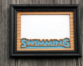 5x7 Swimming Photo Frame Gift for Swimmer, Swim Parent Gift, Swim Team Gift, Swim Picture Frame, Swimmer Decor, Swim Coach Gift