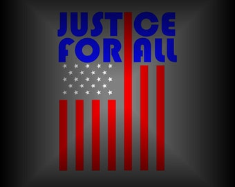 American Flag Car Decal - Justice for All - Pledge of Allegiance - Patriotic Decal - America Decal - Vinyl Car Decal - Laptop Decal