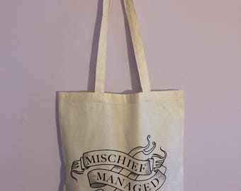 Harry Potter Mischief Managed Tote Bag