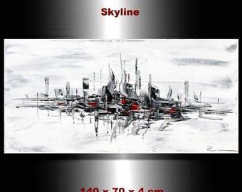 "City Zenic New York Skyline Village - painting 27,56 x 39,37 x 1,57"""