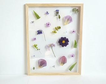 "Dried flowers ""Pretty purple"" frame"