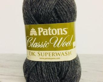 Patons Classic Wool DK Yarn - Dark Grey - For Crochet, Knitting & Crafting