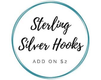 Sterling Silver Hooks - ADD ON