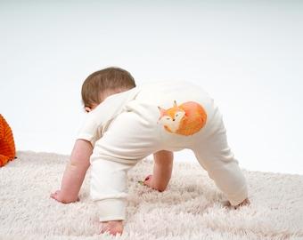 Organic fox leggings by British Babies