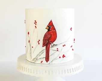 Cardinal Cake- Fake cake, prop cake, party decor