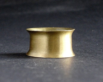 Classy ring anticlastic brass