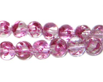 10mm Gladiola Spray Glass Beads, approx. 21 beads