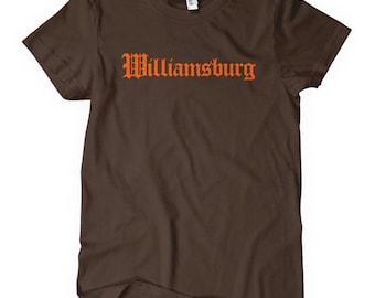 Women's Williamsburg Tee - Gothic Brooklyn - S M L XL 2x - Ladies Williamsburg Brooklyn T-shirt - 4 Colors