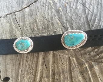 Custom made Free Form Nevada Turquoise Dog Collar