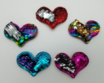 Padded Sequin Hearts Reversible
