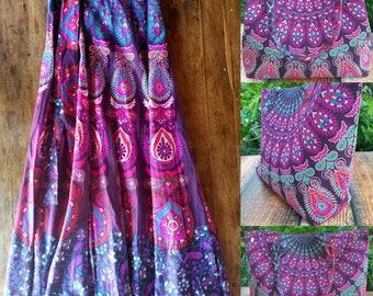 Mandala skirt, Festival skirt, mandala wrap skirt, maxi skirt, Boho skirt, gypsy skirt, Maxi mandala skirt, Hippie skirt tapestry skirt