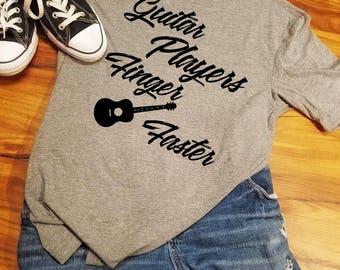 Guitar shirt, Band Guitar Shirt, Band Shirt, Guitar TShirt, Guitar Player Gift, Guitar Players Finger Faster, Guitar Player Shirt, Guitarist