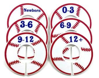 Baby Closet Dividers / Nursery Closet Dividers / Size Dividers / Baseball Nursery Decor / Baseball Baby / Closet Organizer / Baby Organizer