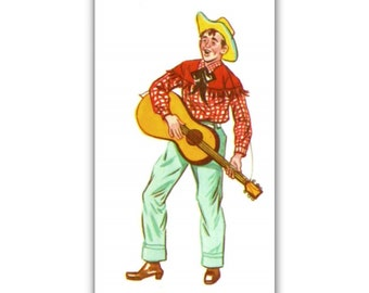 Rockabilly Guitar Plalyer fridge Magnet kitchen refrigerator 50s hillbilly music