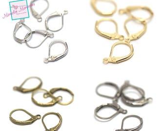 20/100 hooks sleeper earring, Silver/Gold/bronze/gun-metal