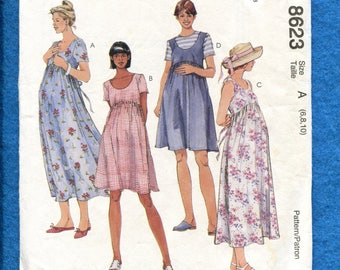 McCalls 8623 Summer Time Maternity Dresses Pattern Size 6