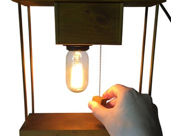 Rustical Chain switch Table lamp