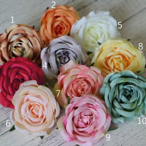 Millinery flowers etsy 5pcs 26 rose headssilk rose flower headsartificial flowersmillinery mightylinksfo Gallery