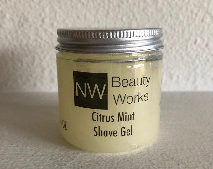 Featured listing image: No Foam Shave Gel | Citrus Mint | A citrusy & spearmint fragrance | 4 OZ