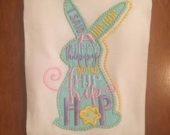 Hip Hop Easter Bunny Embroidered Shirt or Baby Bodysuit