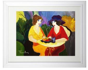 Itzchak Tarkay (1935 – June 3, 2012)  art print Large Size