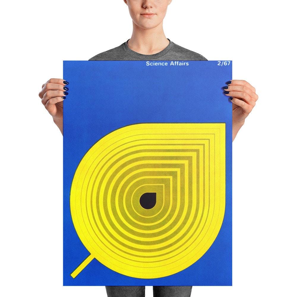Geometric Art Poster Midcentury Modern Art Print Large Wall Art ...