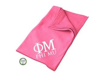 Phi Mu Blanket, Sorority Throw Blanket