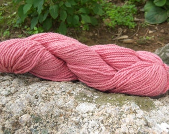 Pink- DK weight- Border Leicester yarn- 100% wool