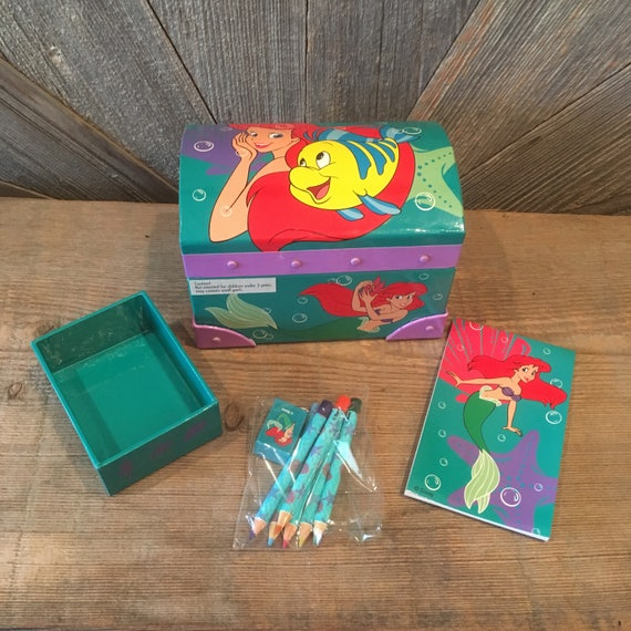 Vintage The Little Mermaid Ariel Jewelry Box 90 Mermaid and