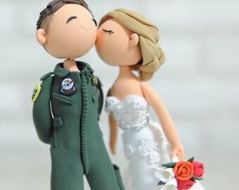Fighter Pilot wedding cake topper