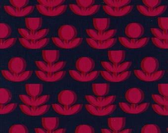 Japanese Fabric Kokka Ellen Baker Paint - flowers - C - fat quarter