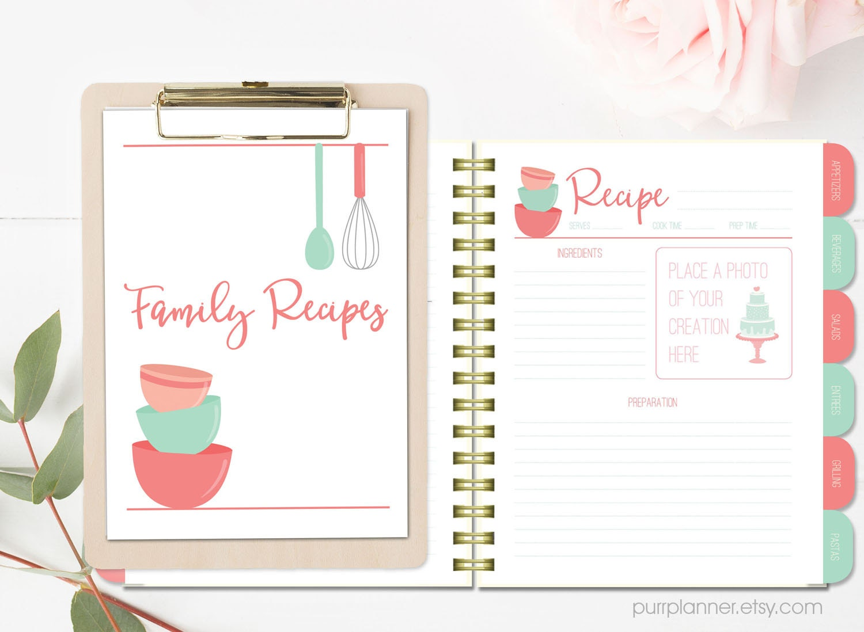 printable recipe book pages koni polycode co
