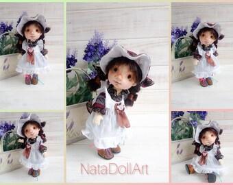 Textile art handmade doll. Original rag doll. Textile doll shabby chic. Interior soft doll. Textile doll girl. Soft doll. ooak Art doll.