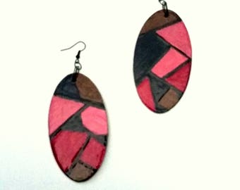 Moulin Rouge Hand-painted Earrings