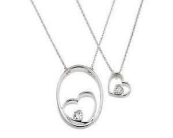 Nesting Hearts Charm Necklaces