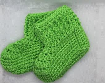 Crocheted Baby Boy Booties