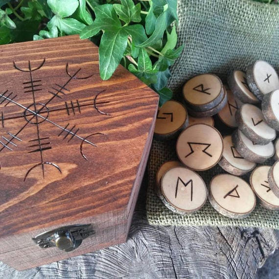 Runes, Viking Runes, Norse, Elder Futhark Runes, Rune Set, Helm of Awe, Pagan, Odin, Witchcraft, Occult, Handmade, Witchy