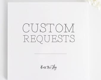 Custom Requests and Add Ons