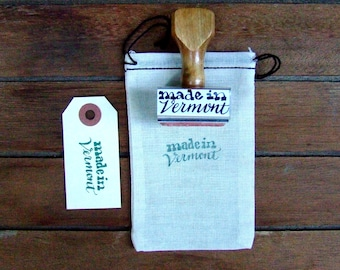 Made in Vermont Stamp, Made in State Stamp, Modern Calligraphy Rubber Stamp, Paper Crafting