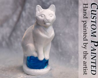 Altar Cats - King - Collectible Custom Figurine Memorial Sculpture Art Painted Limited Edition