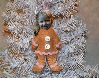 Your Child Gingerbread Girl Ornament