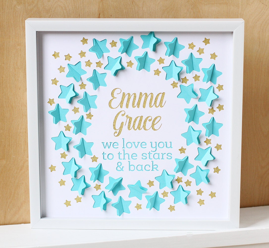 Baby shower guest book love you to the stars nursery art zoom negle Images