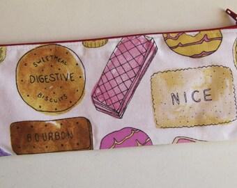 Biscuit pencil case - biscuit pouch - slim pencil case