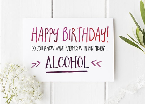 Funny birthday card alcohol themed funny or rude birthday funny birthday card alcohol themed funny or rude birthday card for brother sister dad mum or any friends and family a6 size bookmarktalkfo Images