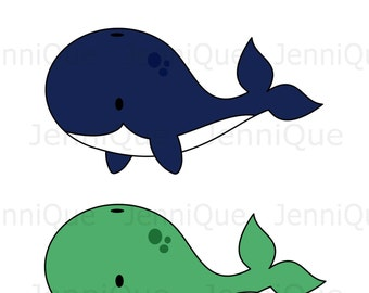 Printable Whale Decorations, Whale Baby Shower Decoration, Whale Cut outs, Baby Shower, 1st Birthday Party Decor, #WH01
