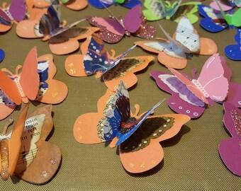 3-D Paper Butterflies