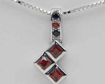 Ruby and Black Diamond Necklace Wedding Jewelry Engagement Ring Comic Book Wedding