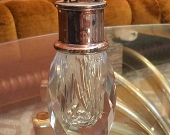 Vintage Mid Century Hollywood Regency Crystal Table Lighter