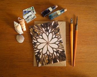 Toothed Wrack Seaweed Card - A6 greeting card - beautiful coastal art card